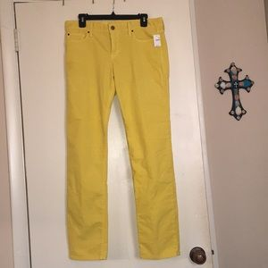 Gap yellow jeans!